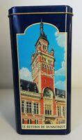 Boîte en métal la dunkerquoise 1904, beffroi de Dunkerque et Bergues, décoration