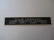 New listing Germany 4X World Cup Champions Nameplate For A Soccer Jersey Case 1.5 X 8