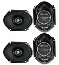 "4) New Kenwood KFC-C6895PS 6x8"" 720 Watt 3-Way Car Audio Coaxial Speakers Stereo"