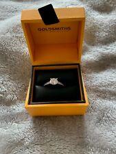 Svarowski Ring Solitaire ATTRACT ROUND RING, WHITE, RHODIUM PLATED