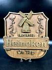 """Vintage Imported Heineken On Tap Sign ~ Foam Windmill 11.5"""" x 12.25"""""""