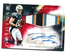 HUNTER HENRY AUTOGRAPH PATCH RC #/99 2016 PANINI ORIGINS CHARGERS