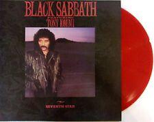 BLACK SABBATH LP VINYL - SEVENTH STAR - VINYL ROUGE - RED VINYL
