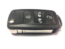 Replacement 4 button flip key case for VW Volkswagen Transporter remote key