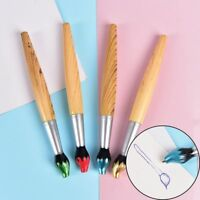 Kids Student Stationery Gift Creative Brush Shape Wooden Blue Ink Ballpoint Pen