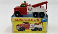 Matchbox No. 71 Ford 'Esso' Heavy Wreck Truck in Original 'F1' Box