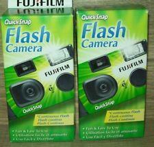 Lot of 2 FUJI QUICKSNAP FLASH Cameras 400 27EXP each