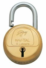 Godrej Locks Navtal 6 Levers Brass Padlock with 3 Keys
