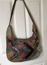 Vintage Botary Hobo Handpainted Leather Shoulder Bag