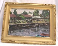 "MAGNIFICENT OIL ON BOARD RUSSIAN PAINTING BY ""VASSILY BORISENKOV"" LISTED ARTIST"