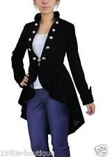 coat steampunk gothic black jacket military velvet victorian goth corset emo par