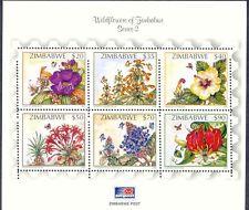 ZIMBABWE 2002 Wildflower series 2 superb U/M MS MAJOR VARIETY: PART IMPERFORATED