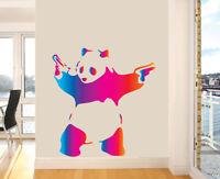 Colourful Banksy Panda Wall Art Vinyl Stickers Graffiti Street Decal Transfer
