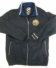 Men's Small ECKO UNLTD Dark Blue Zip Up Track Jacket ~ Patch The American Scheme