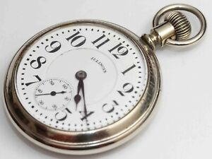 1922 vintage ILLINOIS BUNN RAILROAD GRADE POCKET WATCH - EXCELLENT