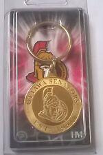 Sénateurs d'ottawa nhl bronze coin logo porte-clés