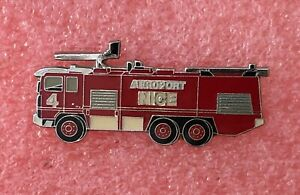 T16 Pins SAPEURS POMPIERS CAMION AEROPORT de NICE Firetruck French Firefighter