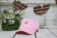PEACH Embroidered Curved Low Profile Baseball Polo Cap Light Pink