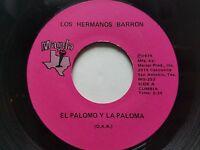 """LOS HERMANOS BARRON - El Palomo Y La Paloma / Cumbia Gitana 1974  LATIN Magda 7"""""""