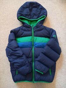 Boy's Snozu Down Filled Fleece Lined Hooded Jacket Age 6 Years