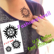 A&E Design Supernatural Sam Dean Winchester Temporary Tattoo Sticker - US SHIP