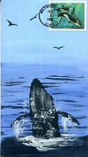 COVERSCAPE handpainted Killer Whale First Day Cover
