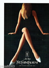 PUBLICITE ADVERTISING 056  1965  les bas & collants Yves Saint Laurent