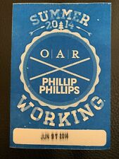 O.A.R. Phillip Phillips Summer Tour Backstage Pass & Richard On Guitar Pick 2014