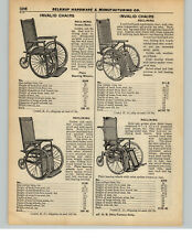 1937 PAPER AD Invalid Wheel Chair Cane Golden Oak Wood Wooden Reclining