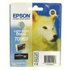Original Epson T0969 Ink c13t096940 Light Black for Photo R2880 MHD 08/2016