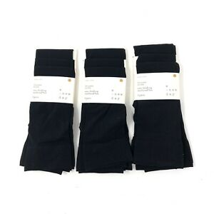A New Day Black Opaque Solid Trouser Socks 9 Pairs NWT Brand New