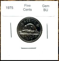 Canada 1975 Gem BU Five Cents UNC MS Nickel!!
