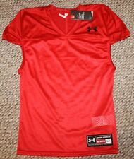 New! Mens Under Armour Practice Football Jersey (Red) - Small, Medium, Large
