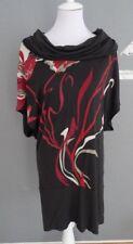 OLSEN Damen Oversize Fledermaus Longshirt Gr.38 braun 100% Viskose