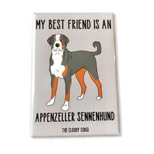 Appenzeller Sennenhund Dog Magnet Best Friend Cartoon Art Gifts and Home Decor