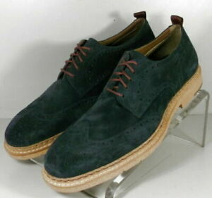 271959 SD45 Men's Shoes Size 8.5 M Navy Suede Lace Up Johnston & Murphy