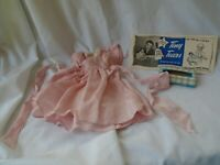 Vintage 1950s Ding Dong School Tiny Tears Label, Tissues & Pink Sateen Dress
