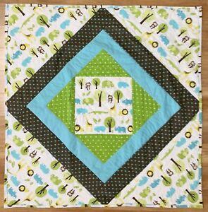 "Baby Quilt Handmade Jungle Animals Boy's XL 44"" x 44""  NEW"