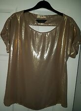 shirt women,gold,Dorothy Perkin,used,good condition ,size 10,12