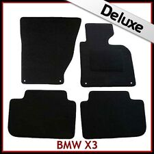 BMW X3 E83 2003-2010 4-eyelets Tailored LUXURY 1300g Carpet Car Floor Mats BLACK
