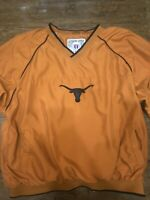 Genuine Stuff Collegiate Texas Longhorns NCAA Windbreaker Pullover Men's SZ XL