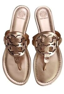 Tory Burch Miller Sandals Rose Gold Size 9.5
