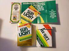 Vintage Sun Light Dishwasher Detergent Powder 5.8 oz Box Lever Brothers Kitchen