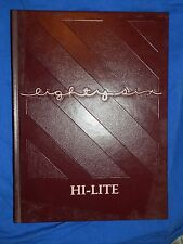1986 NEW RIEGEL OH HIGH SCHOOL YEARBOOK Annual HI-LITE Blue Jackets
