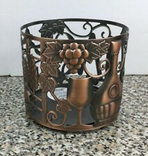 Bath & Body Works CIAO Italian Vineyard Wine Copper Bronze 3 Wick Candle Holder