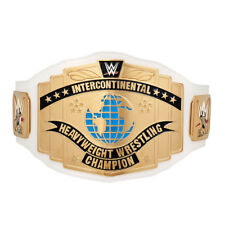 WWE WHITE INTERCONTINENTAL CHAMPIONSHIP ADULT SIZE METAL REPLICA BELT WITH CASE