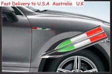Metal Emblems Badge Decal Car Side Fender Sticker  Italy National Flag 2 pcs USA