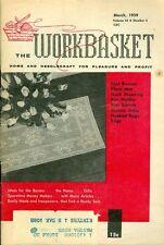 1959 The Workbasket Magazine: Crochet Filet Runner/Place Mat/Hooked Rugs/Gloves