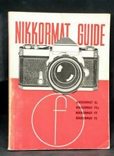 Original Nikon Nikkormat Slr Film Camera Instruction Manual Book Guide Ft Fs El