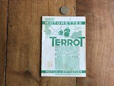 catalogue brochure moto numéro 20 terrot